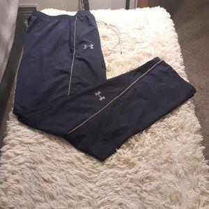 Under Armour track pants men XL blue athletic